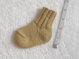 Top-down sock. short-row heel and toe
