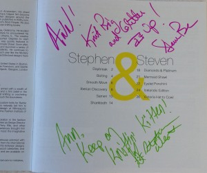 Stephen and Steven autographs