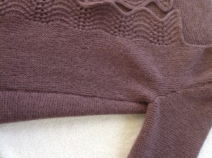 side seam with error on left front