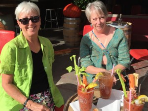 Jane and Sheryl and bloody mary's