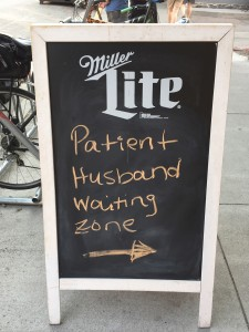 Patient husband waiting zone