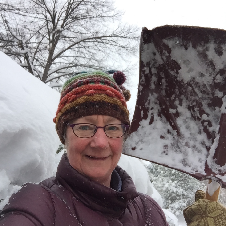 Me with snow shovel