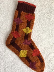 Harlequin finished first sock