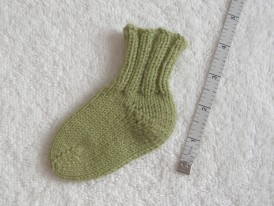 Toe-up sock. short-row heel, wedge toe